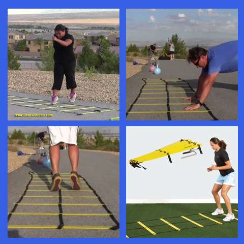 Double Agility ladder with double row of rungs..