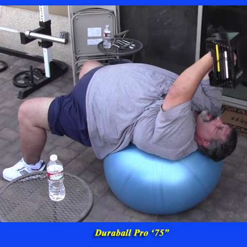 """500lb man lifting weights on the Duraball Pro 75"""""""