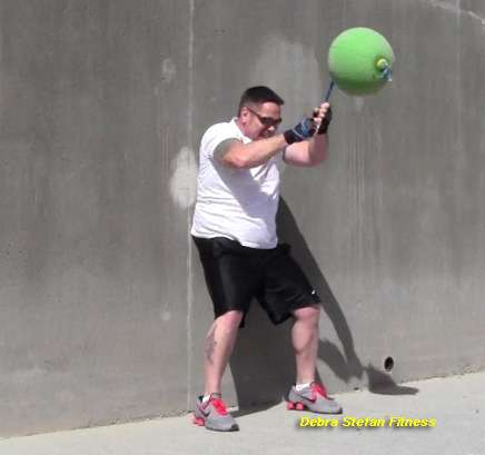 Converta-Ball Chops Performed by Man at Weight Loss Camp