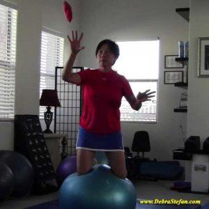 Duraball Pro - woman kneeling balance.