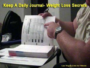 Keep a Weight Loss Journal